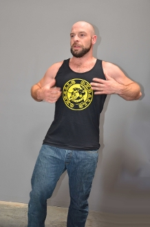 OXBALLS LOGO (Yellow on Black) Tank by OXBALLS