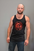 OXBALLS LOGO (Red on Black) Tank by OXBALLS