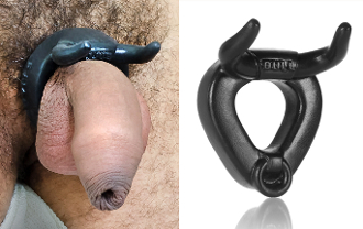 BULL Horned Silicone Cockring OXBALLS